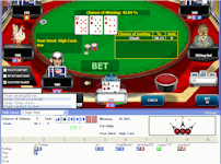 Organise online poker game